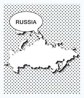 Mapa da pop art da rússia