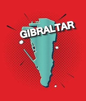 Mapa da pop art de gibraltar