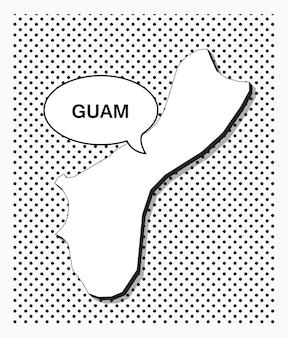 Mapa da pop art de guam