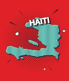 Mapa da pop art do haiti