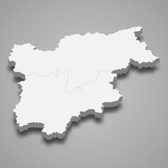 Mapa da região da itália
