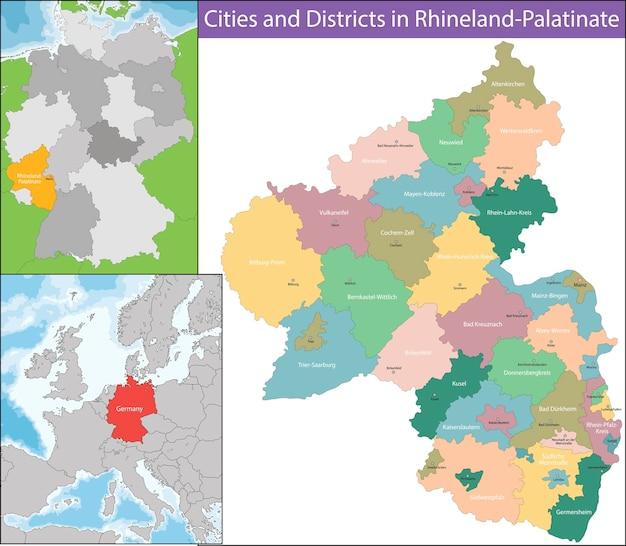 Mapa da renânia-palatinado