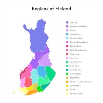 Mapa das regiões da finlândia