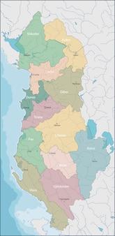 Mapa, de, albania