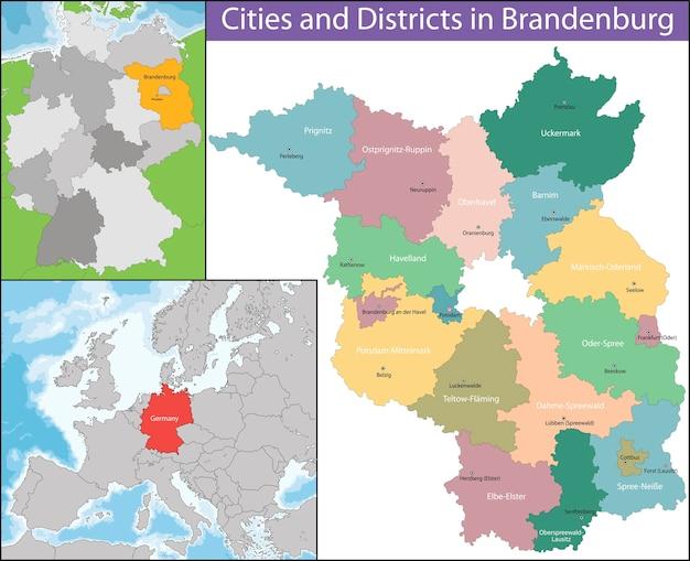 Mapa de brandemburgo