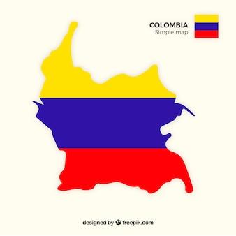 Mapa, de, columbia