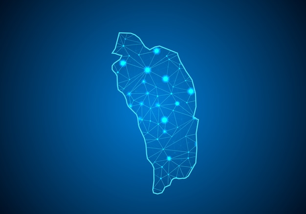 Mapa de dominica.