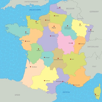 Mapa de frança