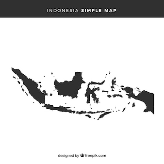 Mapa, de, indonésia
