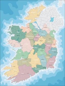 Mapa, de, irlanda
