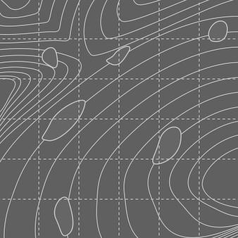 Mapa de linha de contorno abstrato branco e cinza