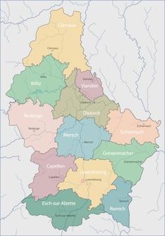 Mapa, de, luxemburgo