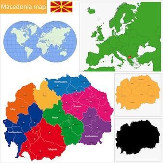 Mapa de macedónia