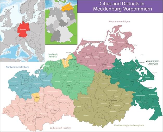 Mapa de mecklenburg-vorpommern