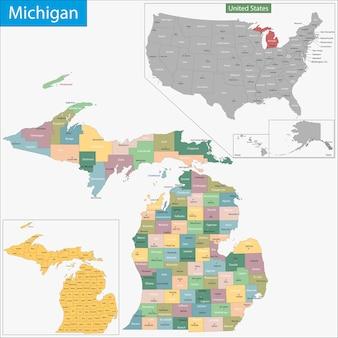 Mapa de michigan