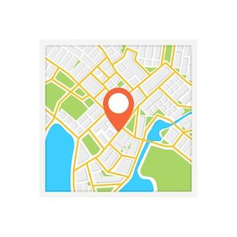 Mapa de navegação quadrado