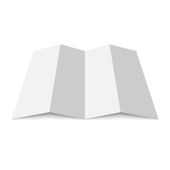 Mapa de papel em branco