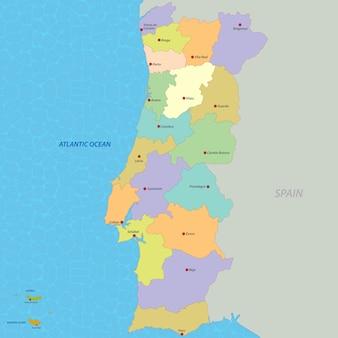 Mapa, de, portugal