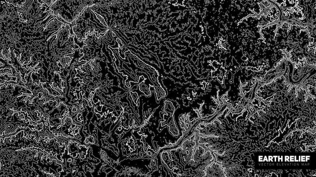 Mapa de relevo abstrato da terra