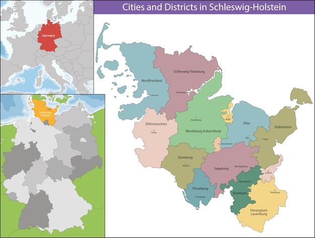 Mapa de schleswig-holstein