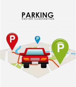 Mapa de serviço de estacionamento