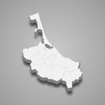 Mapa de songkhla é uma província da tailândia