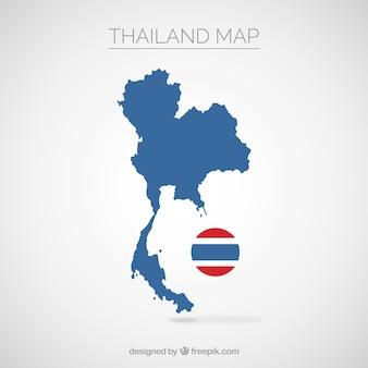 Mapa, de, tailandia