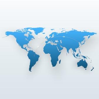 Mapa de viagens do mundo