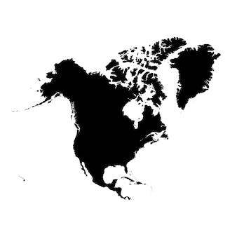 Mapa detalhado da américa do norte