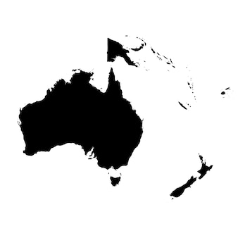 Mapa detalhado da austrália e oceania