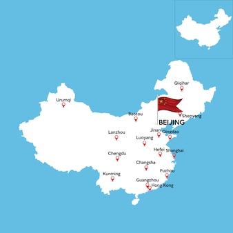 Mapa detalhado da china