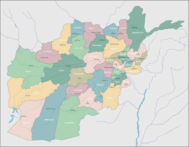 Mapa do afeganistão