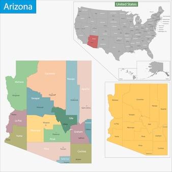 Mapa do arizona