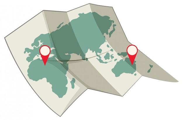 Mapa do conceito de destino do mundo