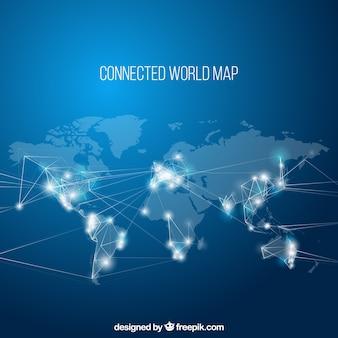 Mapa do mundo conectado