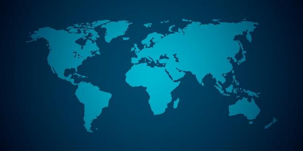 Mapa do mundo de vetor
