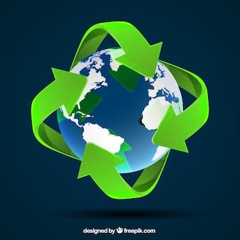 Mapa do mundo eco