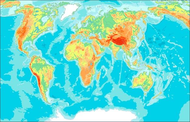 Mapa do mundo físico