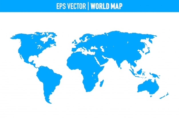Mapa do mundo isolado no fundo branco. terra plana, modelo de mapa cinza para web site.