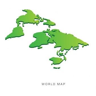 Mapa do mundo isométrico moderno