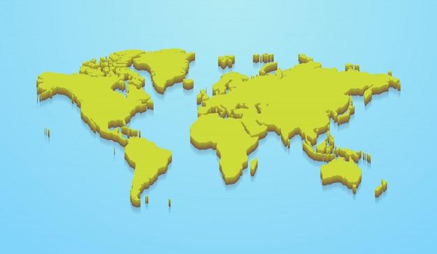 Mapa do mundo minimalista