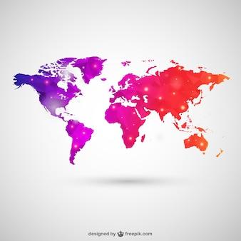 Mapa do mundo no estilo poligonal