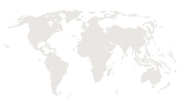 Mapa do mundo quadrado