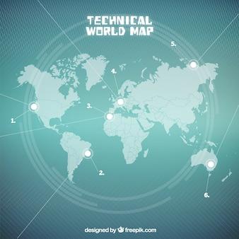 Mapa do Mundo Técnica Seagreen