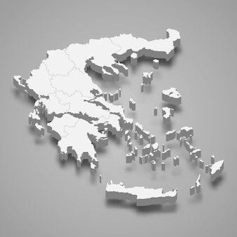 Mapa do país com fronteiras