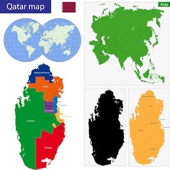 Mapa do qatar