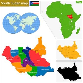 Mapa do sudão do sul
