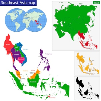 Mapa do sudeste asiático