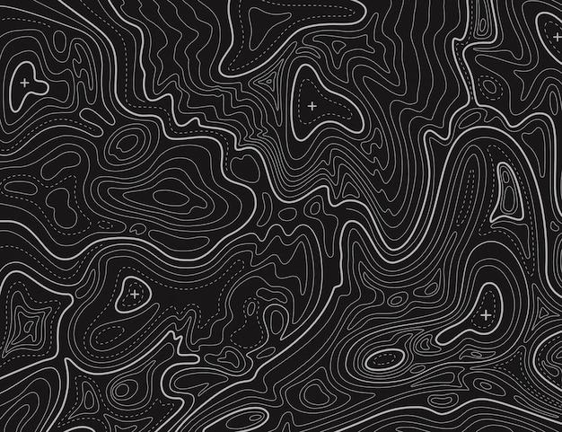 Mapa do terreno. textura de cartografia de linha de contorno topográfica. mapa de relevo topográfico. geográfico
