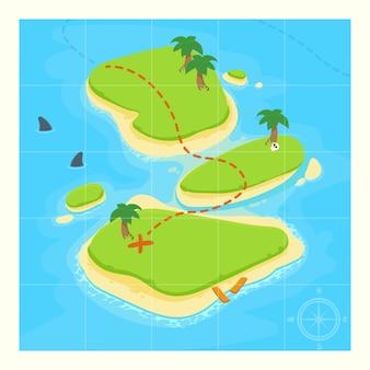 Mapa do tesouro para o jogo.
